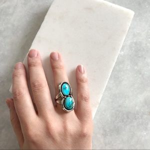 Vintage Sterling Silver & Turquoise Ring, Size 7